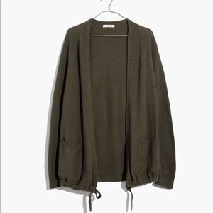Madewell Palisades Cardigan in Dusty Olive